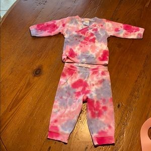 Baby Steps Mish Mish tie dye outfit